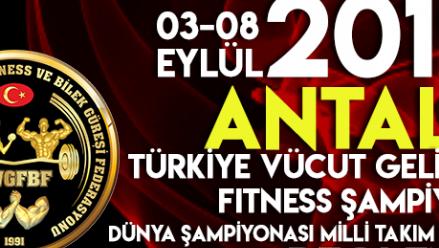 03-08 Eylül 2019 Antalya – Anfaş Türkiye Vücut Geliştirme Ve Fitness Şampiyonası Sonuçları